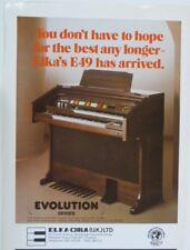 retro magazine advert 1984 ELKA E49 home organ