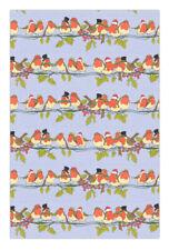 Christmas Robins Cotton Tea Towel