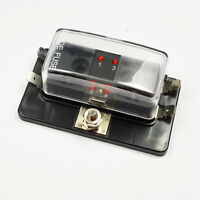 4 Way Standard Blade LED Fuse Box Holder With Failure 12V/24V Light Car Marine