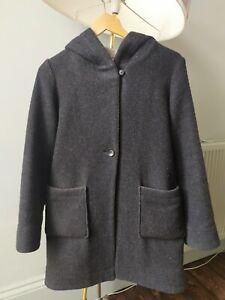 Muji Wool Blend Hooded Coat, size S