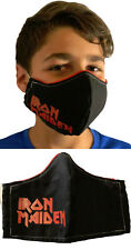 New listing Iron Maiden Washable Cotton (Adult or Kids) Handmade Face Mask w Filter Pocket