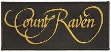 Count Raven - Logo - Aufnäher / Patch - Neu #1990