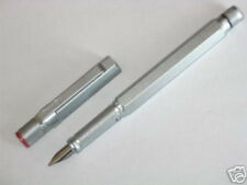 ROTRING 600 SILVER HEXAGONAL FOUNTAIN PEN FINE  PT WITH A CONVERTER  NEW IN BOX