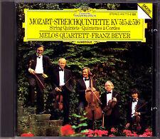 Melos quartetto Mozart String Quintet k.515 516 quintetto di archi DG CD Franz Beyer
