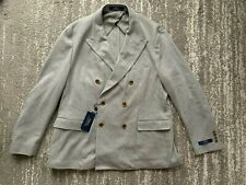 POLO RALPH LAUREN GREY CASUAL MEN BLAZER DOUBLE BREASTED SIZE 46R