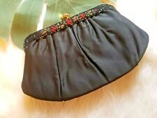Vintage Paray Black Evening Bag