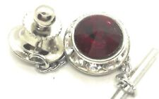 CRYSTAL TIE TACK  RHODIUM PLATED