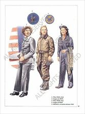 PLANCHE UNIFORM PRINT WWII US Army United States Army Air Forces USAAF 1942