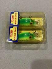 New listing 2 Vintage Pre Rap Storm Wiggle Warts Nib V73 Chartreuse Lime Green Herringbone