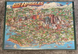 Vtg City of Los Angeles Jigsaw Puzzle 504 Triple Thick Pieces 1988 Buffalo Games
