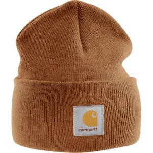 Carhartt Mens A18 Stretchable Rib Knit Acrylic Watch Beanie Hat