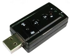 USB 2.0 Stereo Audio Adapter SOUNDCARD Stick SIC SOUND on PC or Laptop