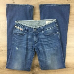 Diesel Industry Melty Flare Distressed Size 25 Womens Jeans L31 (BZ8)