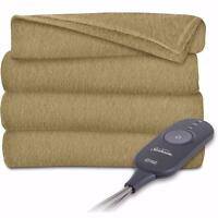 Sunbeam Acorn Heated Throw Blanket Fleece Electric EXTRA SOFT