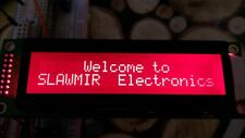 2x20 characters LCD display white on red STN negative led backlight 2x8pin