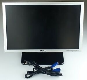 """Dell 19"""" SE198WFP LCD Flat Silver Panel Monitor 19 in. Removable Stand Tested"""