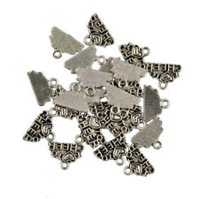 Lot Of 50PCS Tibetan Silver I Love To Cheer Charms Pendants Jewelry Finding