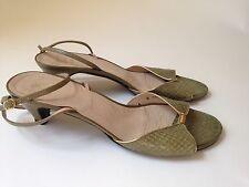 Vintage Christian Dior Souliers Green Snakeskin Sandals