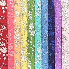 "NEW! 10 Liberty Print Tana Lawn pieces, each minimum 5"" x 5"" - *CAPEL Rainbow*"