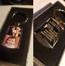 Personalised customised Keyring with Photo Printed & text Engraving