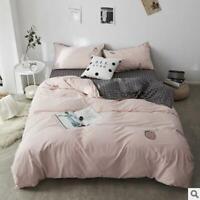 3D Pure Pink ZHUA2536 Bed Pillowcases Quilt Duvet Cover Set Queen King Zoe