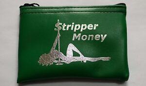 Erotic Dancer Stripper Coin Bill Tip Wallet Purse Exotic Dancer Money Bag
