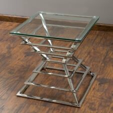 CHERRY TEMPERED GLASS SIDE TABLE Coffee Table
