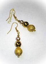 Gold Dangle Earrings (3 Colour  Gold) ...Gold Plated..
