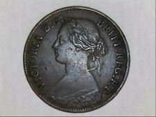 1860 UK farthing specs (bun head) Victoria (1837 - 1901)