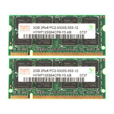 Hynix 4GB 2X 2GB DDR2 PC2-5300S 667Mhz SODIMM Fit Mac iMac Notebook RAM Memory