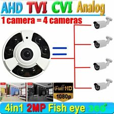 2MP 1080P HD AHD CCTV Security Camera 360 degree Wide Angle Fisheye lens 4 in 1