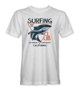 Surfing Club California Shark Surf Mens/Unisex T-Shirt