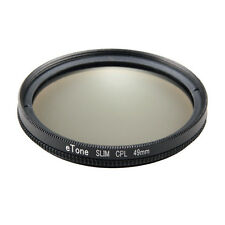 eTone Ultra Slim 49mm CPL Filter Camera Lens Filter Polarizer for Sony NEX-3 NEX