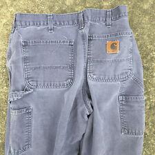 Vintage 80s 90s Distressed Worn Carhartt Jeans Denim Chino Work Carpenter Pants