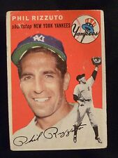 1954 Topps #17 Phil Rizzuto Baseball Card - New York Yankees