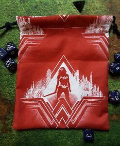 DC Red Wonder Woman dice bag, card bag, makeup bag, small gift bag