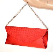 POCHETTE ROSSA borsello raso donna elegante borsa borsetta cerimonia bag sac A24