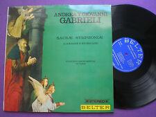 ANDREA Y GIOVANNI GABRIELI Sacrae Symphiniae SPAIN LP 1968 NM