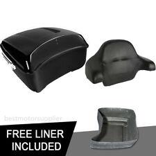 King Pack Trunk + Backrest pad Fit For Harley Tour Pak Street Glide Ultra 14-19