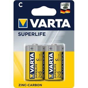 4x Varta SuperLife Baby C MN1400 R14 LR14 1,5V Zink-Kohle Batterien Typ 2014