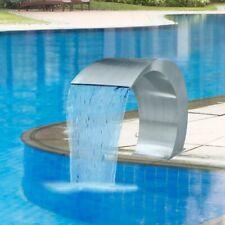 vidaXL Schwalldusche Edelstahl Schwallbrause Pool Wasserschwall Schwimmbad