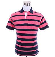 Tommy Hilfiger Men Short Sleeve Stripe Classic Fit Pique Polo Shirt - $0 Ship
