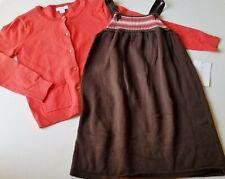 Girls KC PARKER boutique NWT orange cardigan GAP brown sweater dress 6-7 outfit