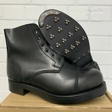 BLACK LEATHER AMMO AMMUNITION DRESS BOOTS - Sizes , British Army Issue BRAND NEW