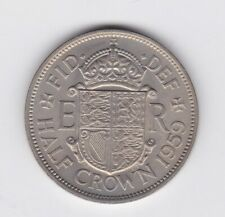 More details for 1959 elizabeth ii half crown in near mint condition