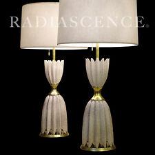 XL LIGHTOLIER HOLLYWOOD REGENCY MODERN PORCELAIN TABLE LAMPS DOROTHY DRAPER '50