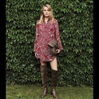 Tory Burch Cora Red Silk ShirtDress 6 Gorgeous Tunic Runway S M  Dress