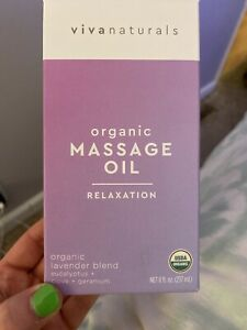 New Vivanaturals Organic Massage Oil Lavender Blend 8 oz Sealed.