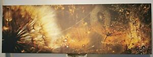 """Dandelion/Spider web"" Canvas Wall Art Picture 120/40cm !!! Small mark !!! ID050"