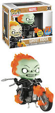 Funko POP! Marvel ~ GHOST RIDER w/MOTORCYCLE GITD VINYL FIGURE SET ~ Diamond PX